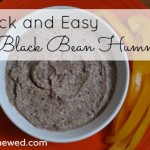 quick and easy black bean hummus