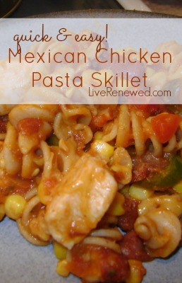 Mexican Chicken Pasta Skillet Recipe at LiveRenewed.com