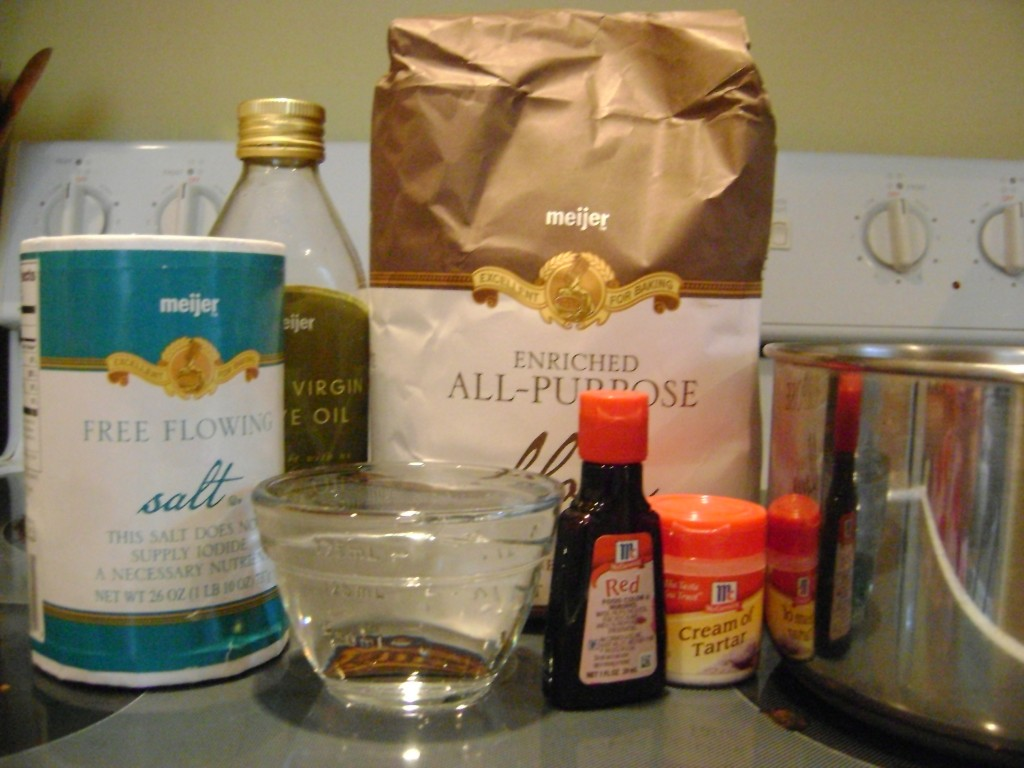 Ingredients for Homemade Playdough