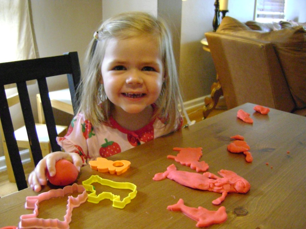 Playing with Playdough 1