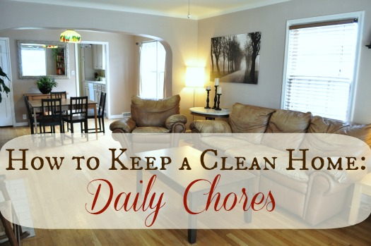 Keeping a Clean Home: Daily Chores