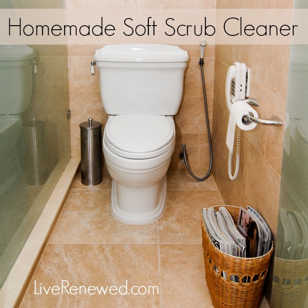 homemade soft scrub recipe and non toxic bathroom cleaning tips from - Homemade Bathroom Cleaner