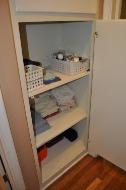 hall cabinet after