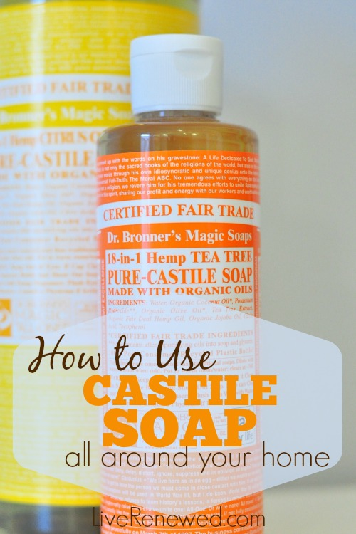 You can use castile soap to replace many of your personal care and cleaning products! Find out how to use castile soap all around your home!