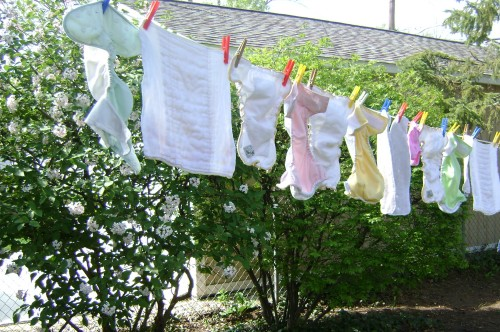 diapers on the line
