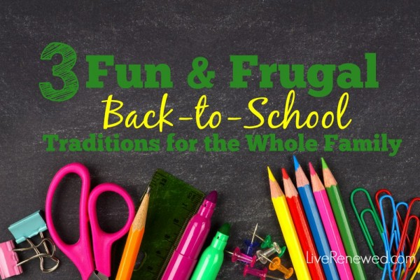 Looking for some creative ideas for celebrating going back to school? Check out these 3 Fun & Frugal Back-to-School Traditions for the Whole Family that will start your kids off right this school year!