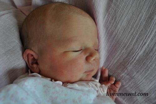 Blair Grace, born at home 6/8/12