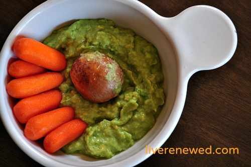 easy, kid-friendly avocado dip