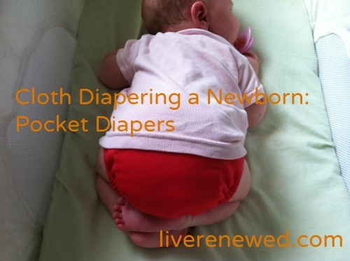 cloth diapering a newborn: pocket diapers