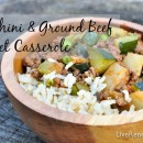 Wondering what to make for dinner tonight? Try this quick and easy zucchini and ground beef skillet casserole seasonal summer recipe!