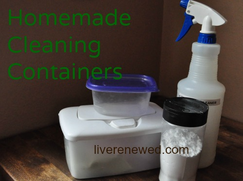 homemade cleaning containers