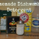 31 Days to Green Clean: Washing Dishes & Homemade Dishwasher Detergent