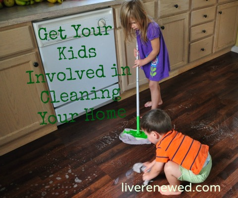 get your kids involved in cleaning