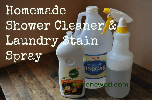 shower cleaner & laundry stain spray