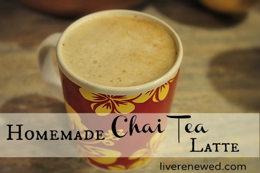 Homemade Chai Tea Latte with Dairy Free Option