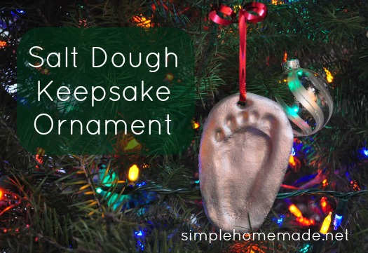 Salt Dough Keepsake Ornament Today Im Over At Simple