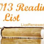 My 2013 Reading List & January Reading