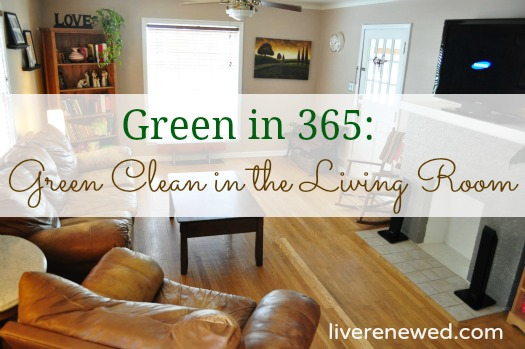green clean living room