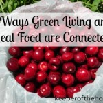 How Real Food and Green Living are Connected {Green in 365: The Kitchen}