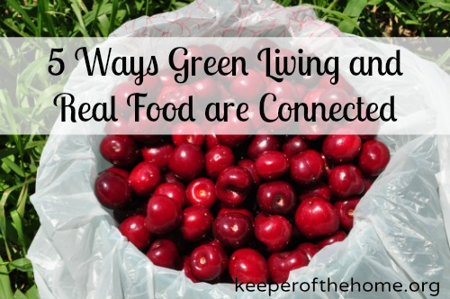 how green living and real food are connected