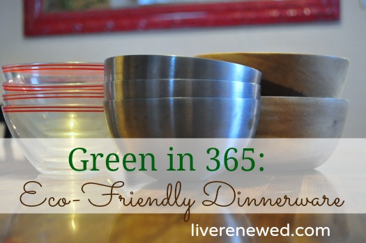 Eco-Friendly Dinnerware & Green in 365: The Dining Room - Eco-Friendly Dinnerware