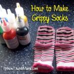 how to make grippy socks