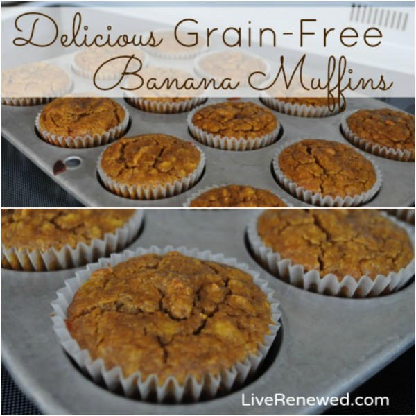 If you are grain-free or trying to reduce grains or gluten, this is an awesome and easy recipe that gives you such a delicious muffin you won't even miss the grains! Your kids will love them too -- mine have declared these the best muffins in the world! You need to try this Delicious Grain-Free Banana Muffin recipe!