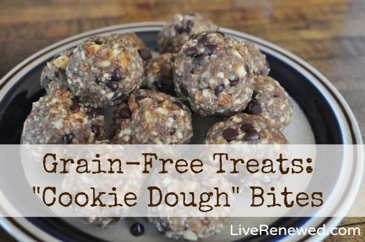"Grain-Free Treats: ""Cookie Dough"" Bites"