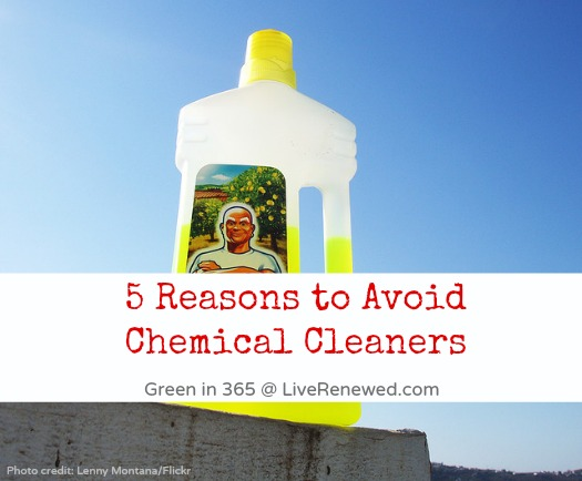 Do you toxic, chemical cleaners around your home? Check out these five important reasons to avoid chemical cleaners and switch to homemade green cleaners instead.