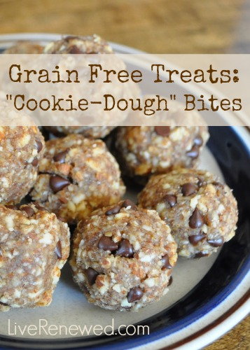 """These are delicious! Your kids won't even know they are healthy! Grain Free """"Cookie Dough"""" Bites"""