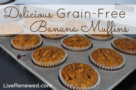 Delicious Grain-Free Banana Muffins