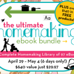 Ultimate Homemaking Ebook Bundle Sale!
