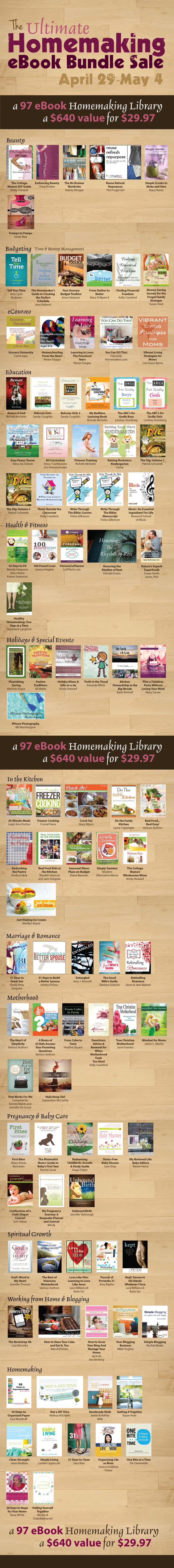 The Ultimate Homemaking Ebook Bundle Sale!