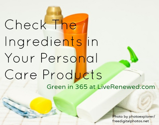 Check the ingredients in your personal care products