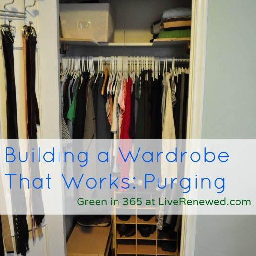Building a Wardrobe that Works: Purging - Green in 365 at LiveRenewed.com