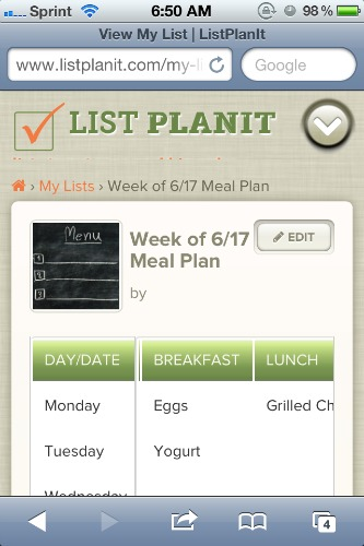 List PlanIt Mobile