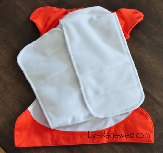 BG Freetime Diaper - semi-attached inserts
