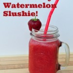 Strawberry Watermelon Slushies! {Green in 365: Summer}