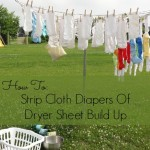 How to Strip Cloth Diapers of Dryer Sheet Build Up {Green in 365}