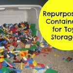 Repurposing Containers for Toy Storage {Green in 365: Play Room}