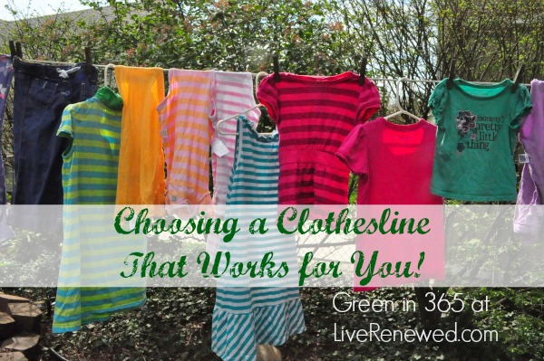 A great list of questions to ask when choosing a clothesline that will work for you at LiveRenewed.com