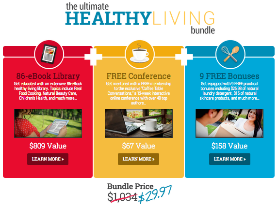 3 Amazing Deals in One! The Ultimate Healthy Living Bundle