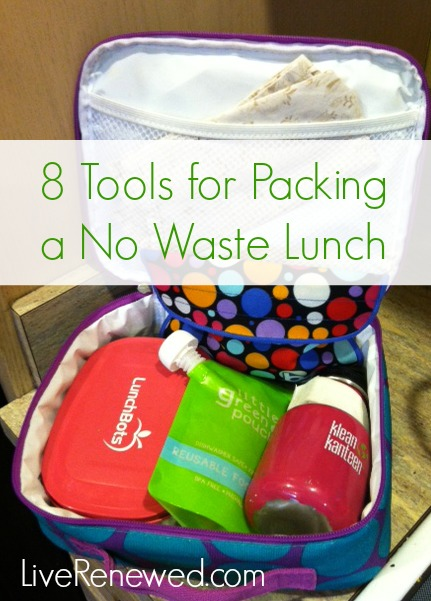 These are so helpful! 8 Tools for Packing a No Waste Lunch from LiveRenewed.com