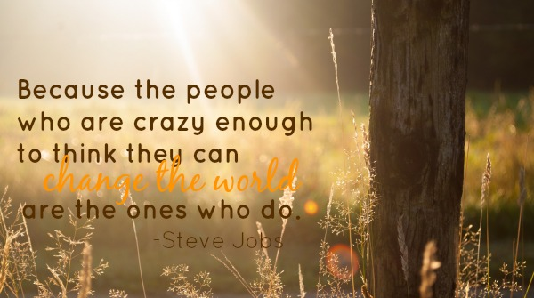 change the world quote by Steve Jobs at LiveRenewed.com