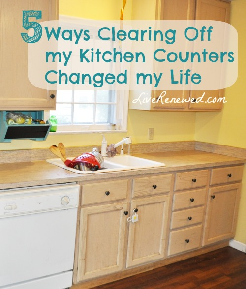 I'm pretty sure that completely clearing off my kitchen counters changed my life. Here's why, and how I'm motivating myself to clear them off again!