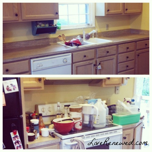 Messy Kitchen: How To Completely Clear Off Your Kitchen Counters
