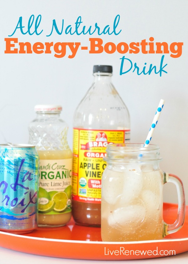 Do you drag in the afternoons and sometimes reach for an extra cup of coffee or soda? Kick the afternoon caffeine habit today with this detoxing, natural energy-boosting drink! from LiveRenewed.com