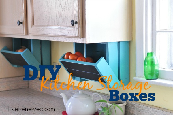 DIY Kitchen Storage Boxes - Kitchen storage boxes