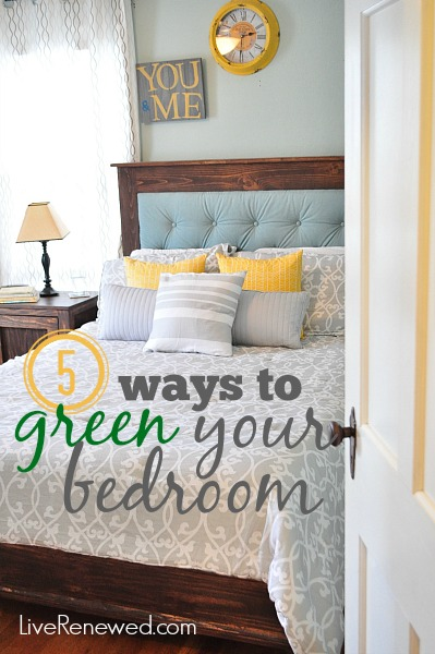Because we spend so much time in our bedrooms and beds, it's important to make them as safe and non-toxic as possible.. Here are  5 ways to green your bedroom at LiveRenewed.com