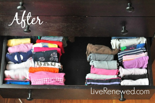 eaff1030e10 how to fold and organize kids clothes - after drawer